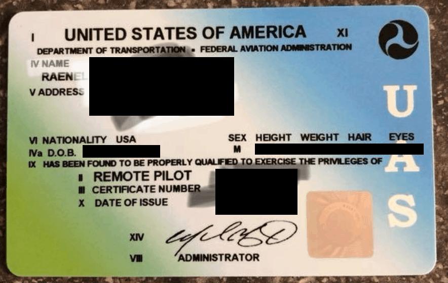 FAA Remote Pilot Certificate