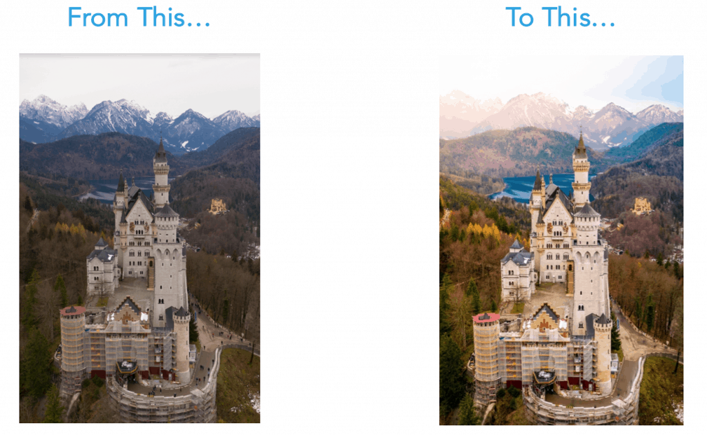 castle before and after | Drone Launch Academy | Lakeland, FL | Get Licensed To Fly Drones Commercially | Launch Your Drone Business!